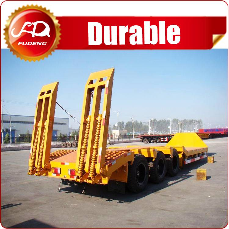 3 Axle 40 ton widely used low bed trailer for sale in south africa