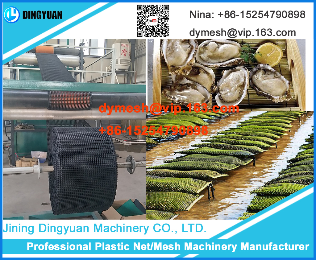 Plastic Square Net Machine from Dingyuan machinery