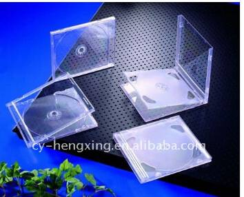 10.4mm Clear Single PS transparent pretty CD Case