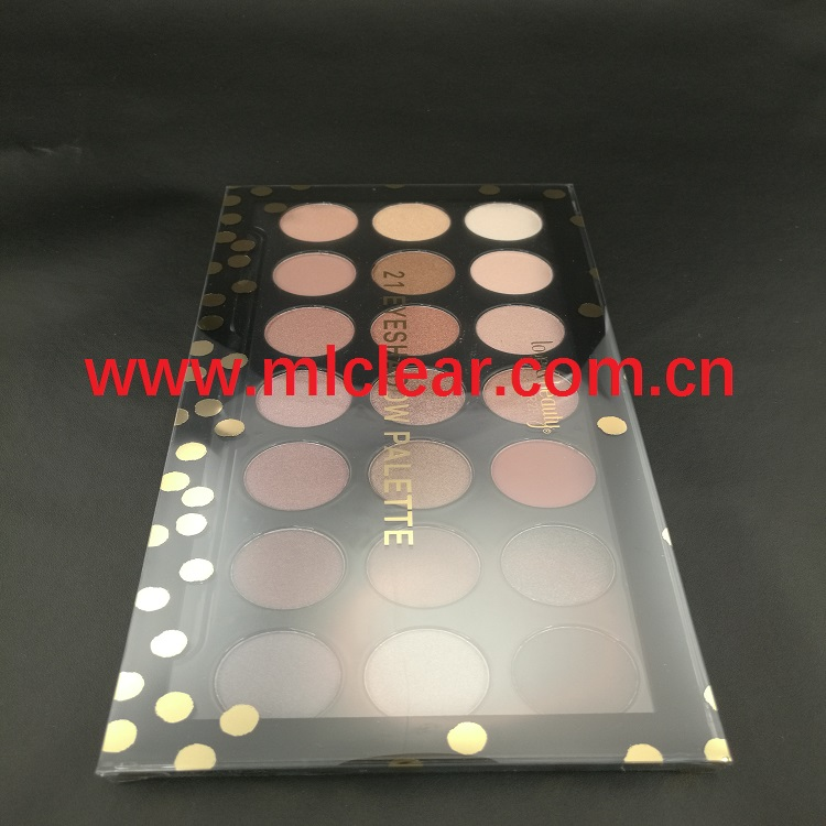 cosmetic PVC clear box PET plastic eye shadow packaging