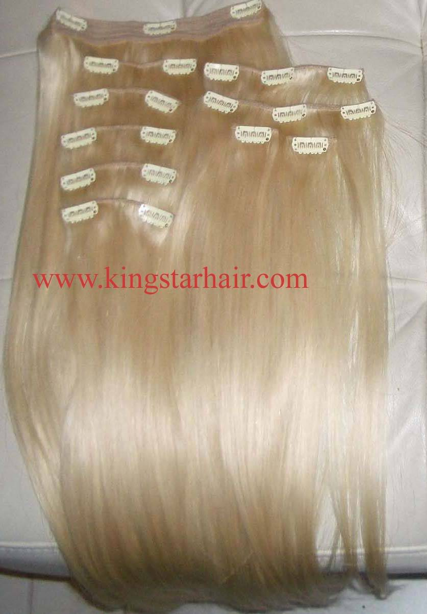 sell remy hair clip on hair extension