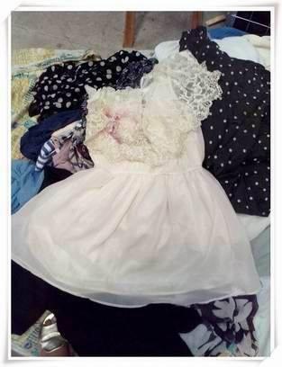 Lady used silk dress