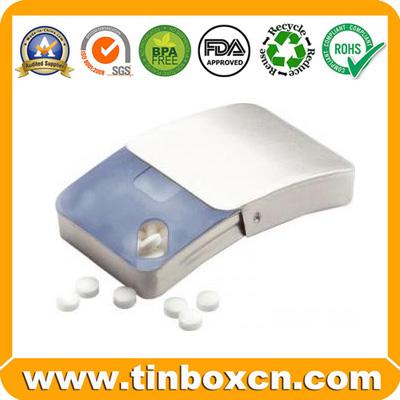 Sell slide tin,sliding tin,tin with removable lid,mint tin,candy tin,mint box