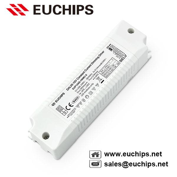 12W 180/240/300mA DALI/0-10V dimming constant current led driver EUP12AD-1WMC-0