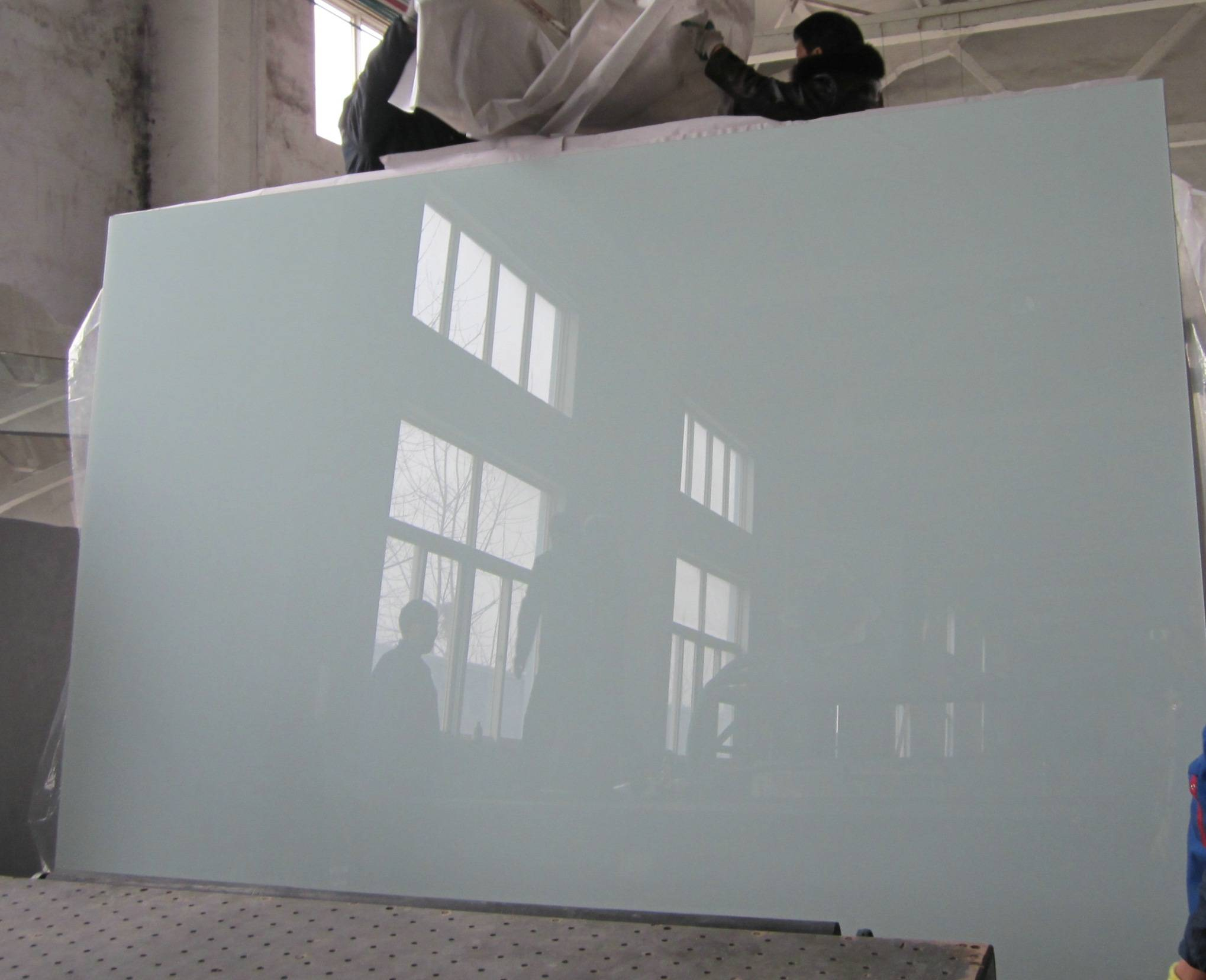 Tinted back paint glass for wall panels