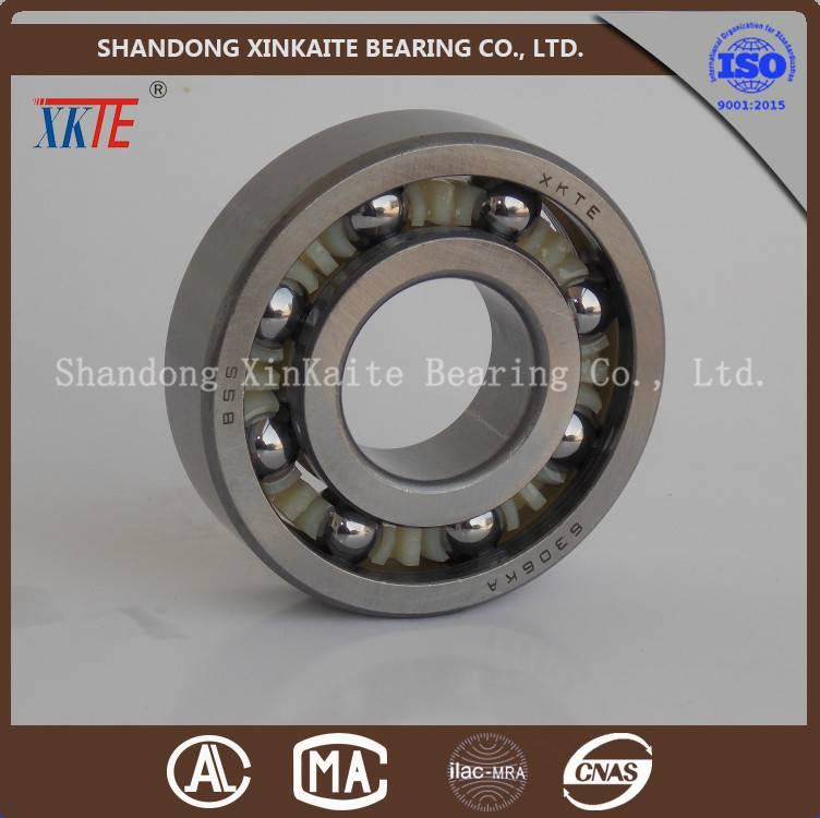 XKTE brand nylon retainer 6306TN/C3/C4 bearing for conveying roller from china bearing manufacture