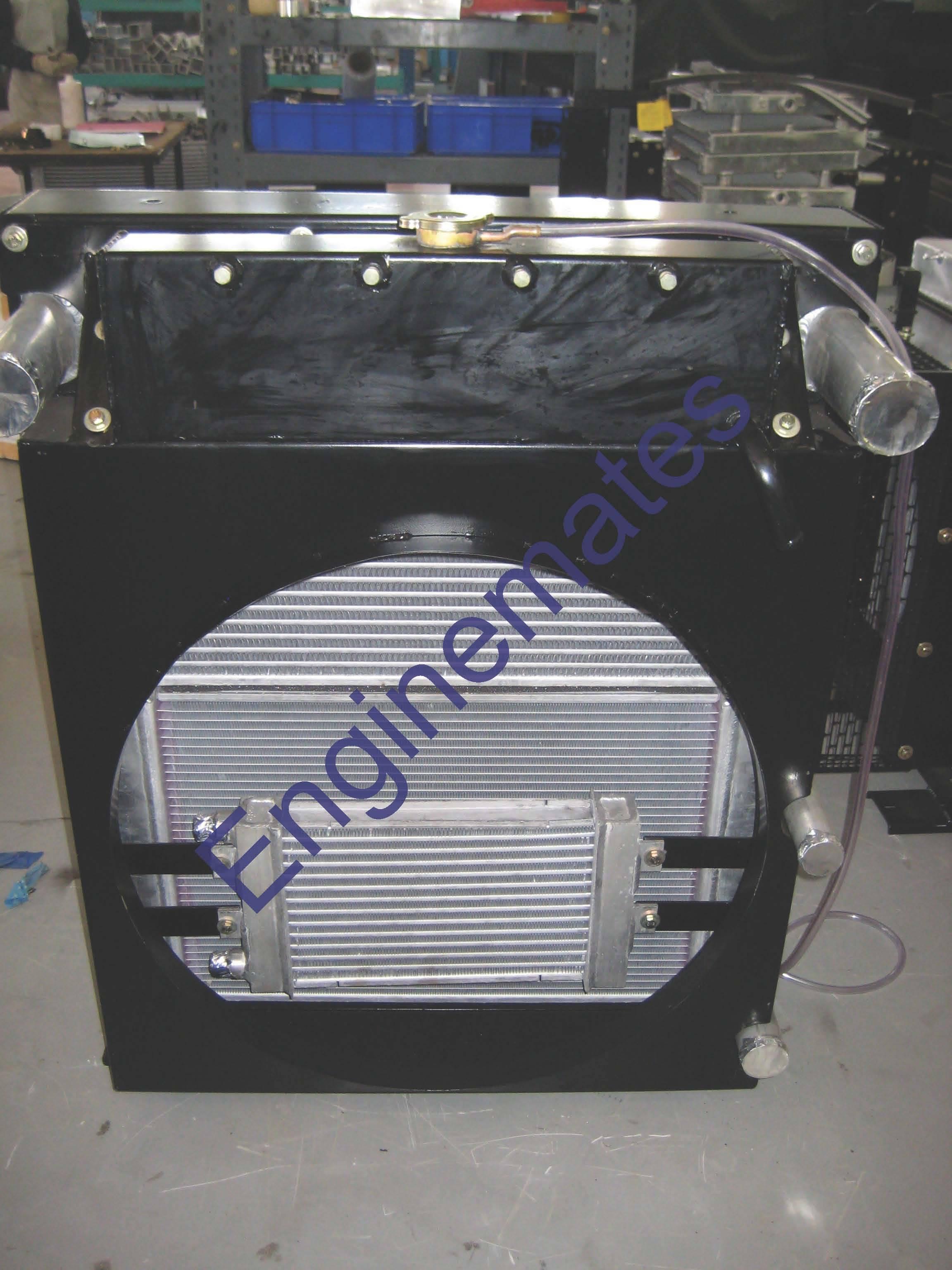 Radiator cum oil cooler assembly for fork lift