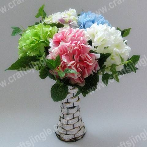 sellColorful single hydrangea spray artificial flower for decoration