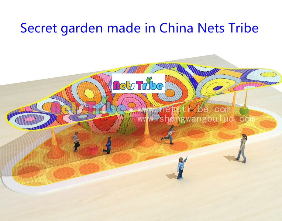 High cost performance---Crocheted polyester fibre secret garden indoor playground