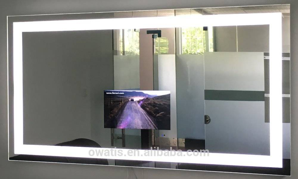 TV mirror with aluminum frame