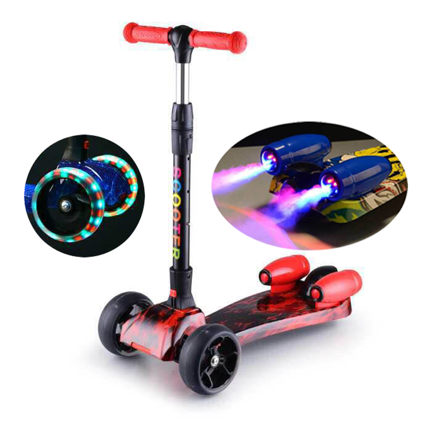 2018 hot selling new kids jet scooter with music