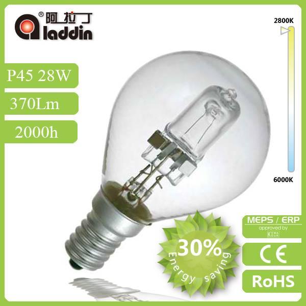 energy saving halogen lamp P45 FROM ALADDIN