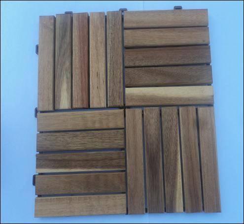 Outdoor Acacia Decking Tile made in Vietnam