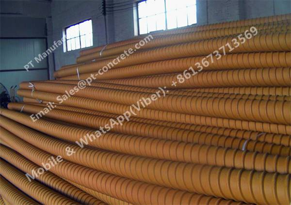 CNM HDPE Plastic Sheathing Ducts For Post Tensioning