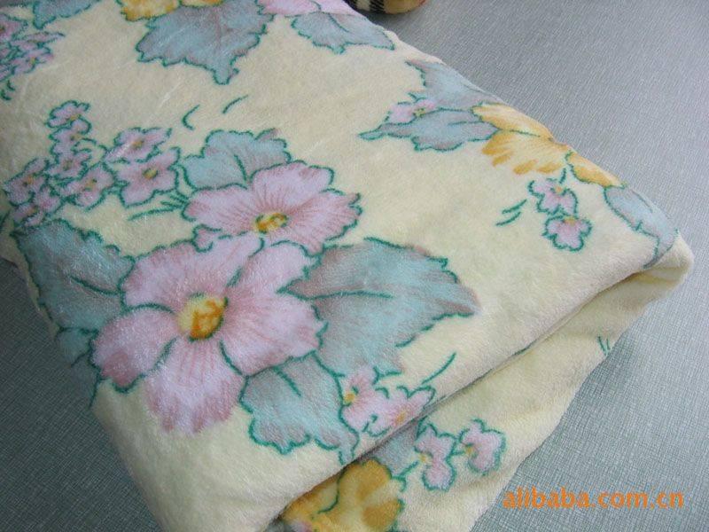 bright colors flower printed coral fleece blanket