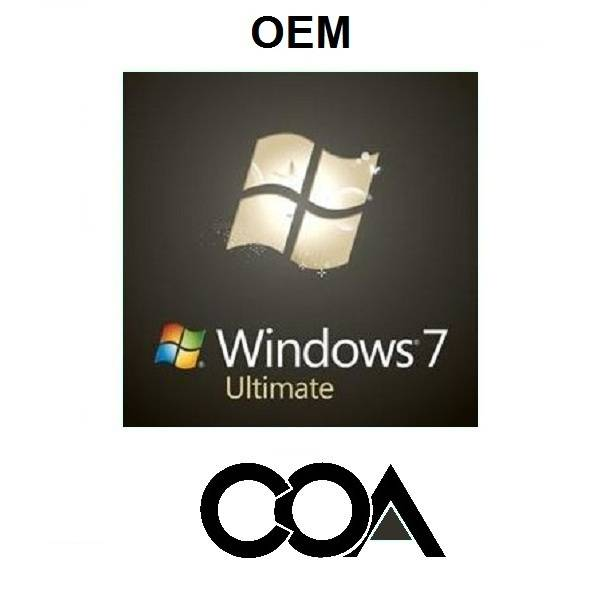 Microsoft Windows 7 Ultimate OEM Software COA Sticker