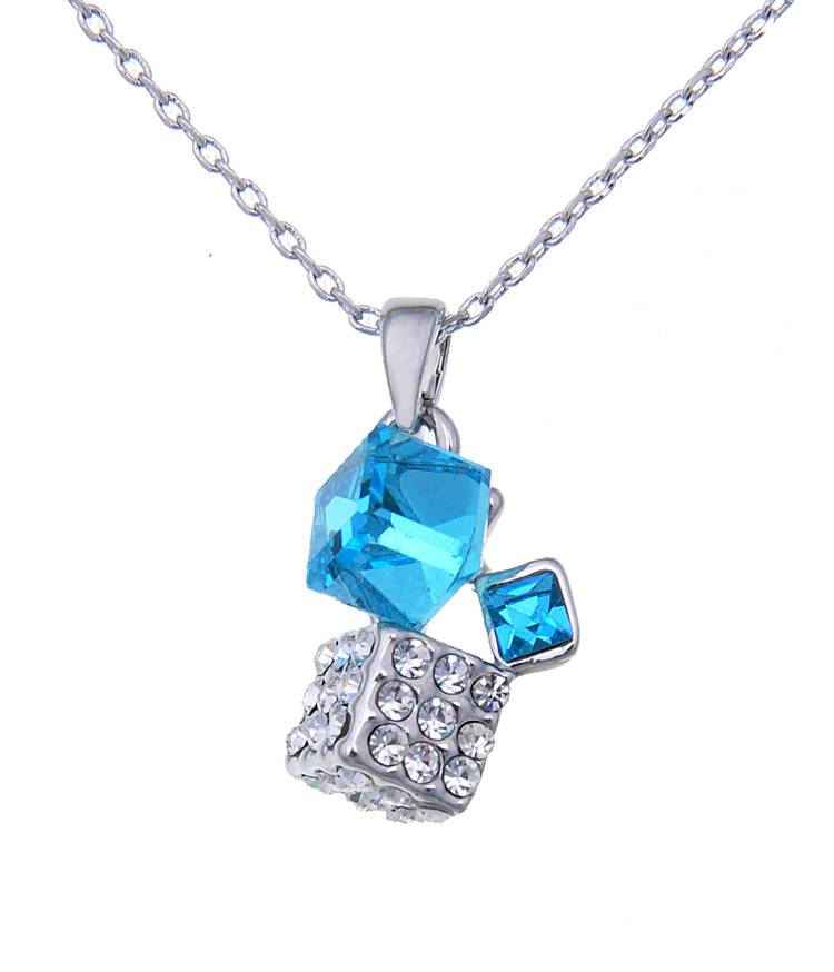 New Arrival 2013 Cubic Pendant Fully-jewelled Necklace WholeSale Jewelry