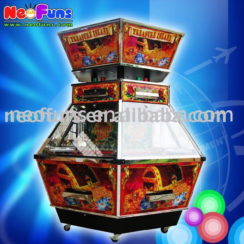 Treasure Island coin pusher machine