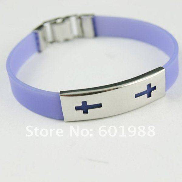 christmas gifts simple fashion wristband stainless steel silicone bracelets