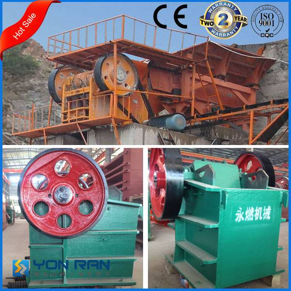 Guangzhou Yonran factory price jaw crusher for stone coarse/primary curshing