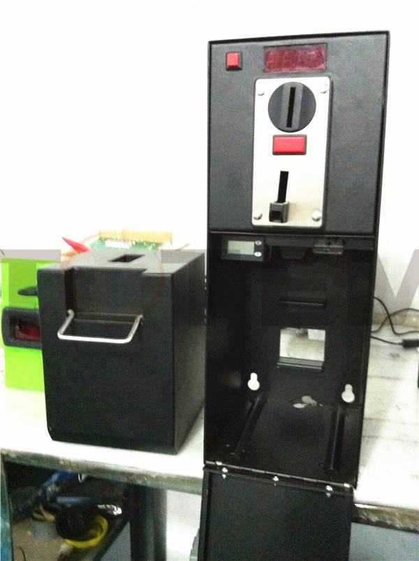 Coin Box with Coin Acceptor and Time Controller
