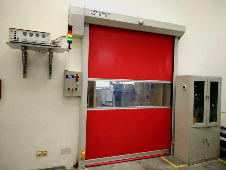 High speed fabric rolling doors rapid roller shutters door
