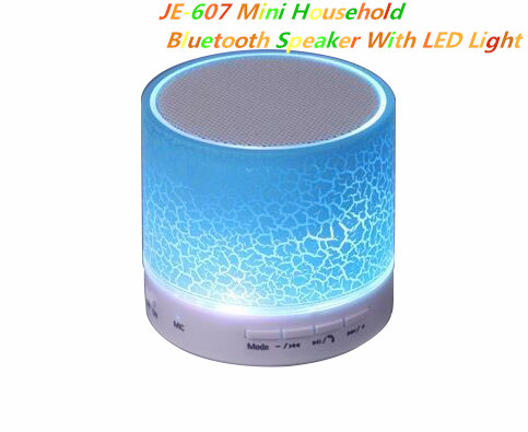 Mini protable bluetooth speaker with LED light