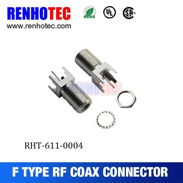 RF Connector F Connector Straight PCB Mount Jack