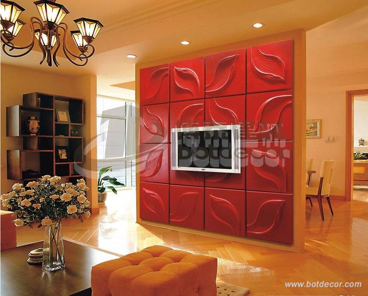 light weight polyurethane (PU) background art wall panels