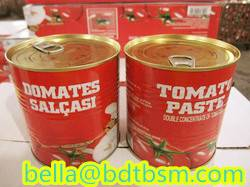 Sell brix:28-30% tomato paste 210g48tins/carton