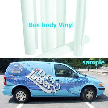 Self-adhesive vinyl bus body film
