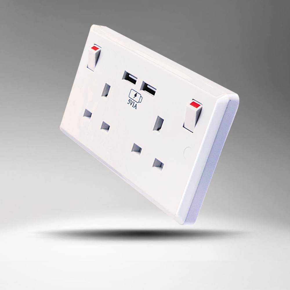 Made in China electrial high quality factory supply 2 usb usb wall socket