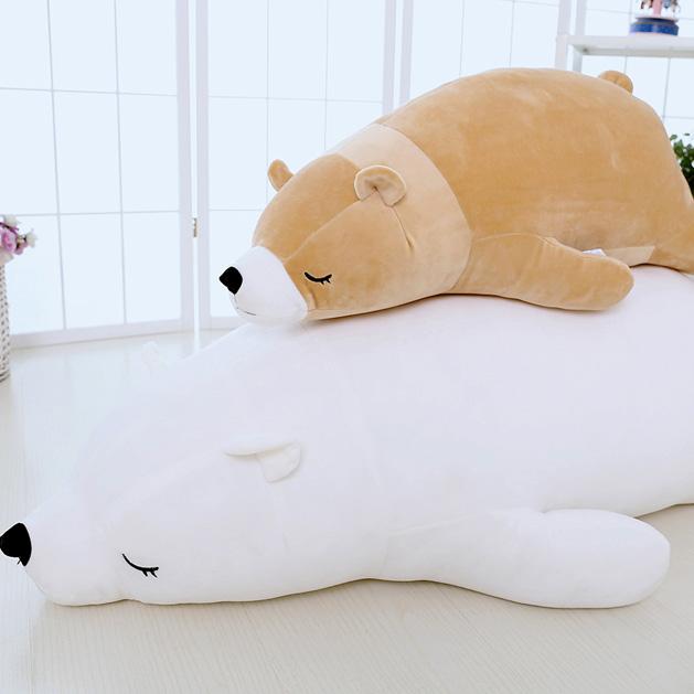 Polar bear plush toy polar bear pillow bear dolls DS-BR001