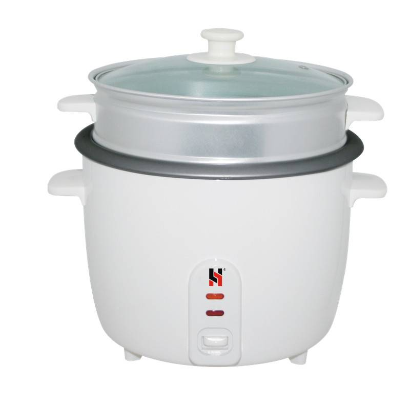 Drum rice cooker with glass lid