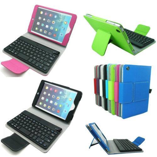 Stand Leather Case Cover with Removable Bluetooth Keyboard For Apple iPad Mini