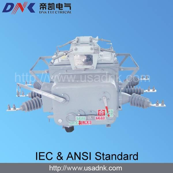 outdoor pole-mounted HV 11kV & 27kV vacuum circuit breaker