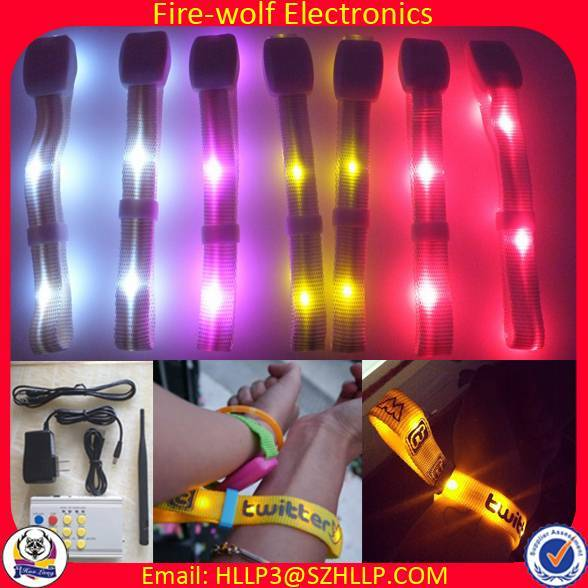 LED Lighting Wristbands with Wireless Radio Control