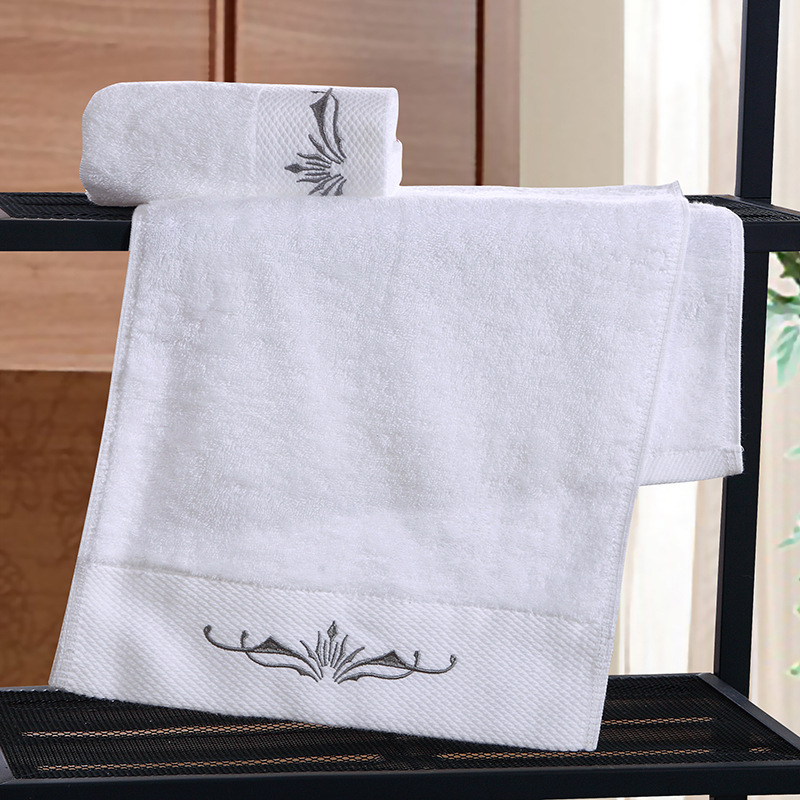 High Quality White Custom 100% Cotton hotel towel sets