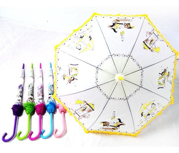 YS-1018PVC Lace Straight Rain Umbrella