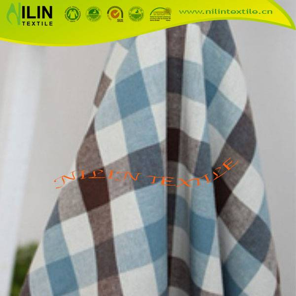 Most popular fabric textile yarn dyed check cotton fabric