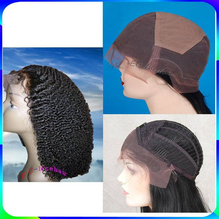 Wholesale Virgin Afro Kinky Curly Human Hair Full Lace Front Wigs for Black Women