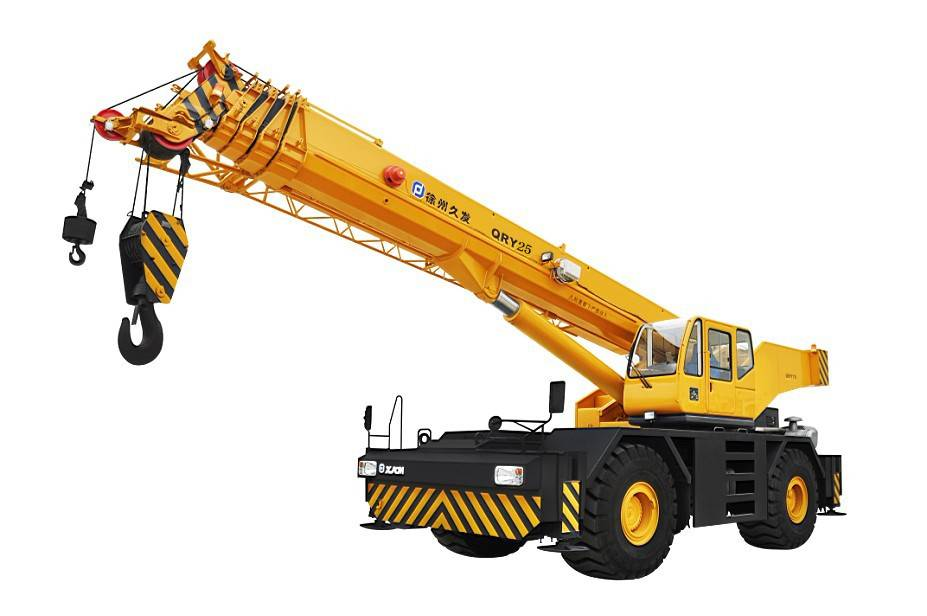 25ton rough terrain crane