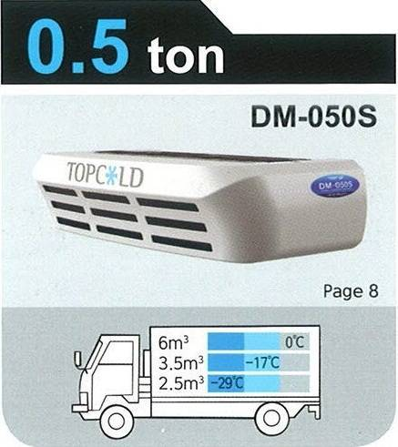 TOPCOLD / DM-050S / Truck Refrigeration Unit / Reefer Van / Refrigerator Truck / Made in Korea