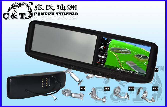 4.3 inch car mirror GPS and original bracket