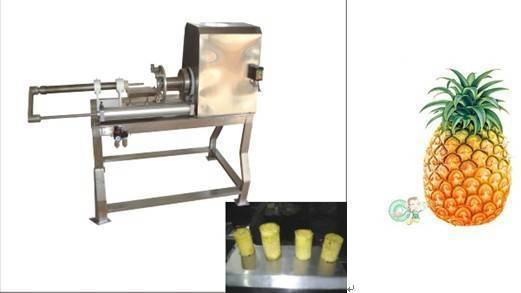 Pineapple peeler and corer machine|pineapple peeling machine
