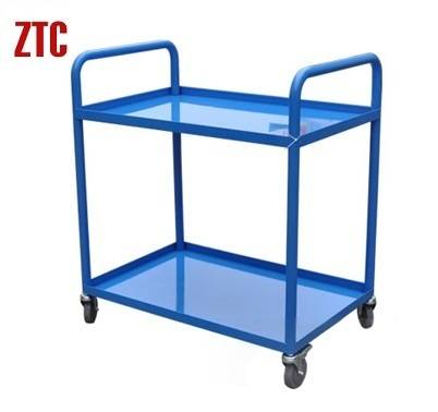 Metal material transport warehouse trolley with two layers RCA-022