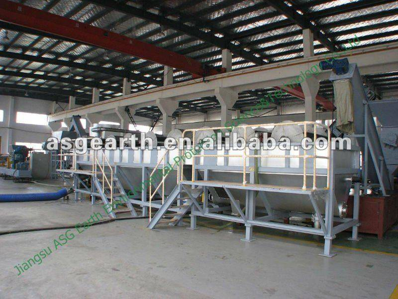 Plastic film recycling granulating plant