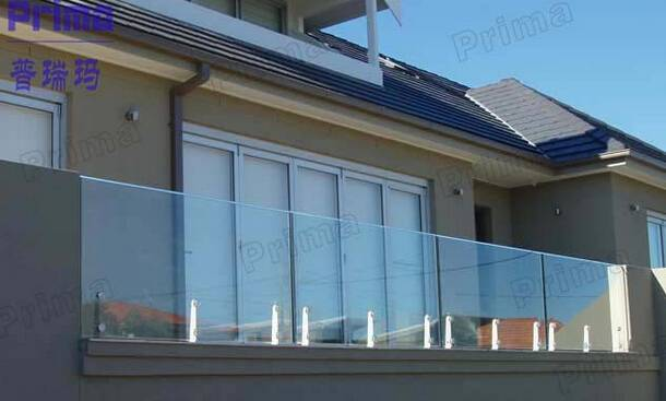 customized outdoor glass guard bar bularstrat glass railing
