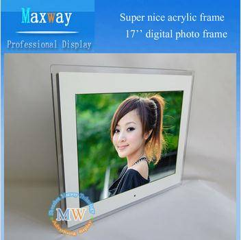 Acrylic frame digital photo frame 17 inch