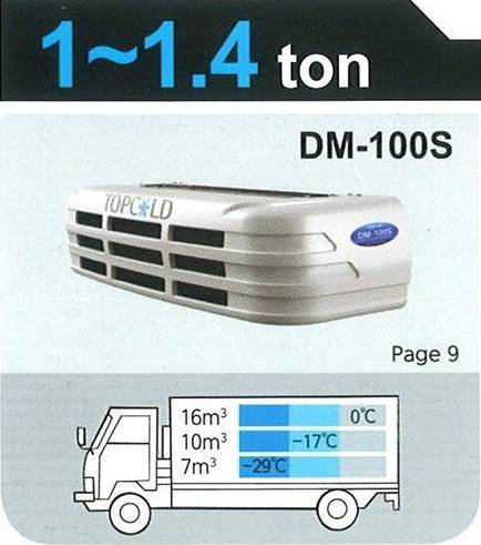 TOPCOLD / DM-100S / Truck Refrigeration Unit / Reefer Van / Refrigerator Truck / Made in Korea